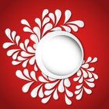 纸与花卉样式的设计圆的框架 库存图片