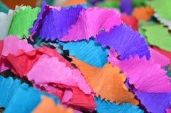 纸丝带,装饰需要,纸的颜色objectsb 免版税库存图片