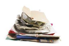 纸产品回收 库存图片