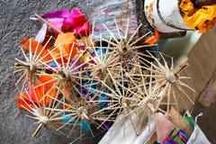 纸伞,在清迈,泰国 图库摄影