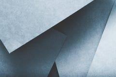 纸分层堆积抽象几何背景蓝色 图库摄影