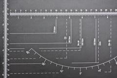 纸切口测量器 库存图片