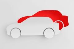 从纸切开的汽车作为贴纸 免版税库存图片