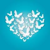 从纸切开的蝴蝶 库存照片