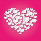从纸削减的心脏 免版税库存图片
