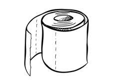 纸卷唯一洗手间 免版税库存图片
