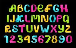 纸可折叠霓虹字母表传染媒介  皇族释放例证