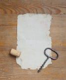纸和拔塞螺旋。 库存照片