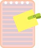 贴纸和文字书传单的图象 免版税图库摄影
