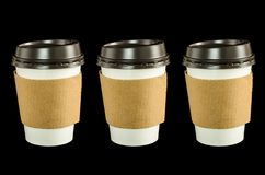纸咖啡杯 免版税库存图片