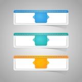贴纸商标纸五颜六色的集合 免版税库存图片