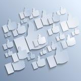 纸喜欢在灰色背景的标志 免版税库存图片