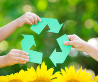 纸回收标志 免版税库存图片