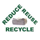 纸回收的浪费 库存图片