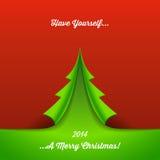 纸圣诞树背景 库存照片