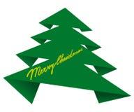纸圣诞树 免版税图库摄影
