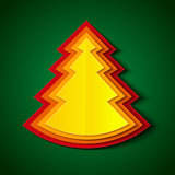 纸圣诞树 免版税库存图片