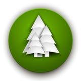纸圣诞树 图库摄影