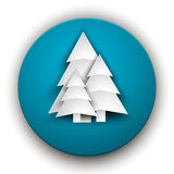纸圣诞树 免版税库存照片