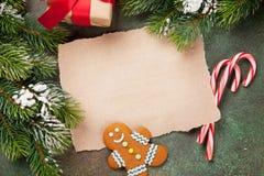 纸圣诞节愿望的 库存照片