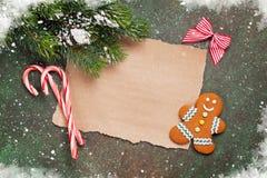 纸圣诞节愿望的 库存图片