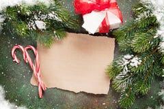 纸圣诞节愿望的 免版税图库摄影