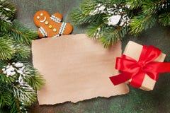 纸圣诞节愿望的 免版税库存图片