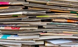 纸堆回收 库存图片