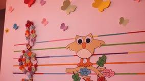 纸墙壁装饰 影视素材