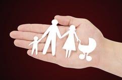 纸家庭 免版税库存照片