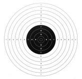 纸射击目标 免版税库存图片