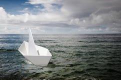 纸小船 库存图片
