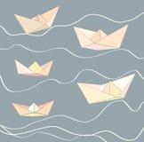 纸小船 向量例证