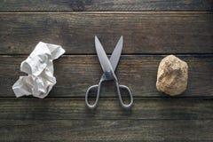 纸岩石剪刀 免版税库存照片
