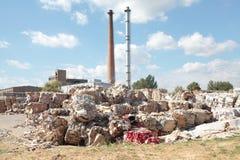 纸工厂回收 库存图片
