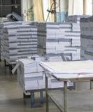 纸工厂 免版税库存图片