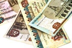 纸币 埃及磅钞票在白色背景的 我 库存照片