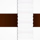 纸带抽象的origami 向量例证