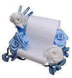 纸张和玫瑰 图库摄影
