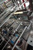 纸张和纸浆厂-同时发热发电工厂 库存图片