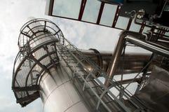 纸张和纸浆厂-同时发热发电工厂 免版税图库摄影