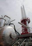 纸张和纸浆厂-同时发热发电工厂 免版税库存图片
