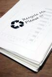 纸张回收使用的符号 库存图片