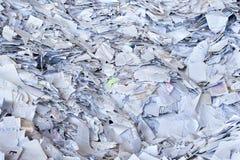 纸张回收浪费 库存图片