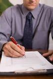 纸张签字 免版税库存照片
