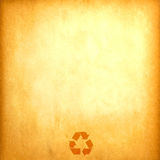 纸张被回收的葡萄酒 免版税库存照片