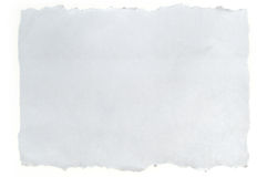 纸张被撕毁的白色 库存照片