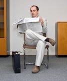 纸张读 免版税库存图片