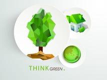 贴纸或标签救球环境概念的 免版税库存照片