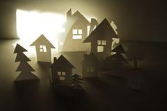 纸房子 免版税库存照片